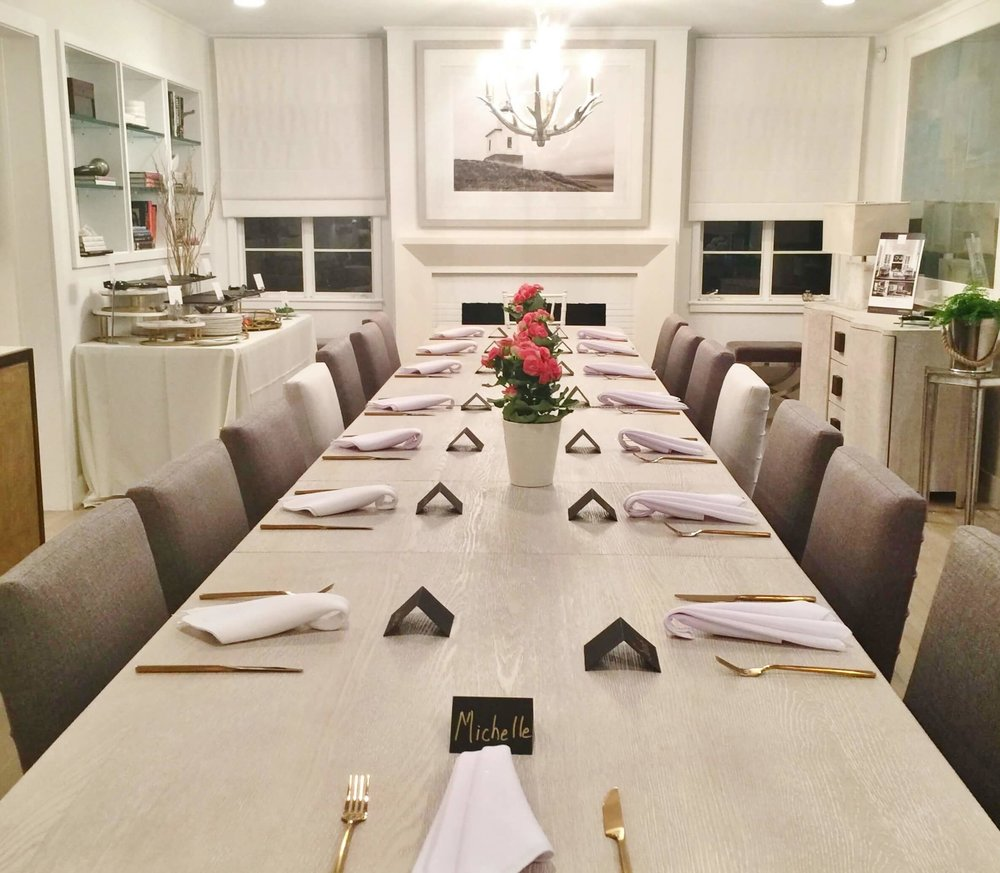 Special dinner with Universal Furniture and Sunset Magazine at Home Crush home decor shop in Beverly Hills, CA during  Design Bloggers Conference 2018