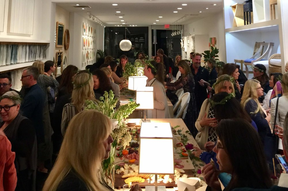 Fabulous party at Serena and Lily shop in Los Angeles during  Design Bloggers Conference 2017