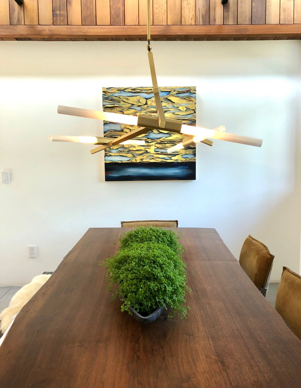 Loving a Live Edge |live edge dining table seen at  Dwell on Design home tour  #liveedge