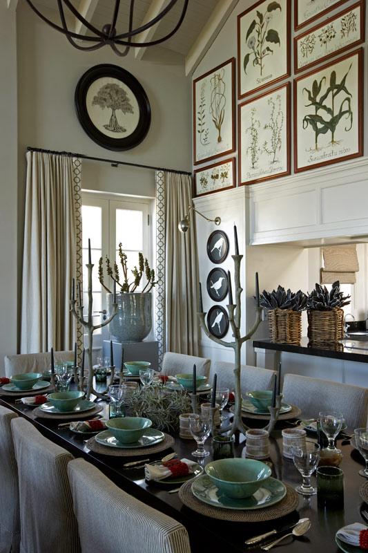 Designer:  John Jacob  | Art hung above door and window