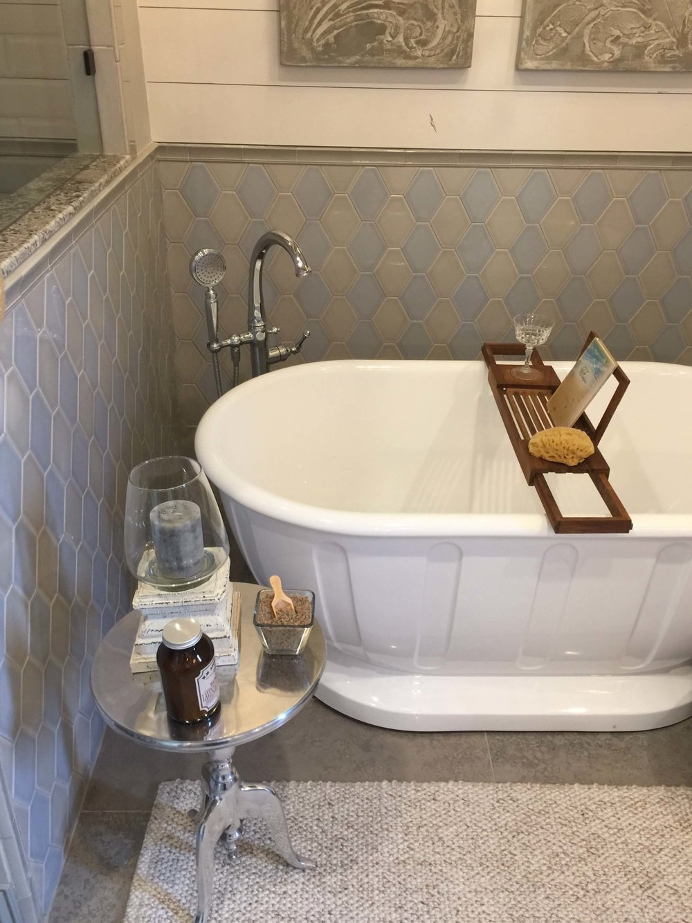 Free Standing Tub With Small Table For Bath Accessories   ASID Showcase  Home 2017