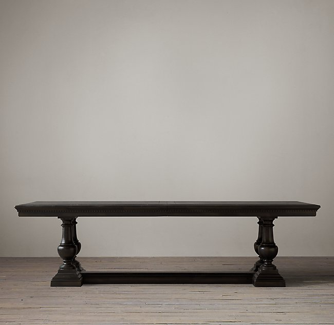 Dining table in black finish