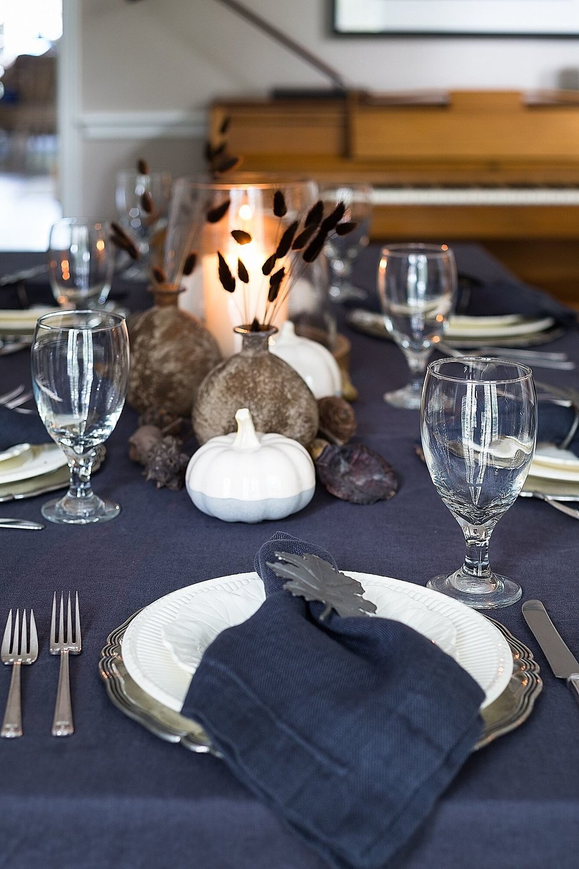 Dining room fall tabletop - Carla Aston, Designer | Tori Aston, Photographer   #diningroomideas #tabletop #paintcolor #falltablesetting