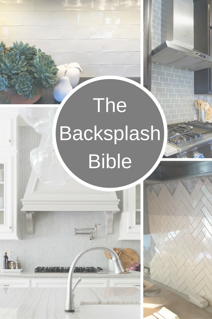 I've confronted hundreds     of backsplash questions on my blog and these are my best solutions.
