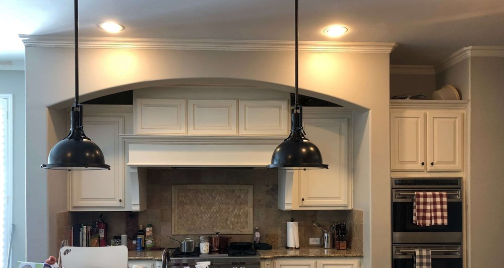 BEFORE - The heavy sheetrock arched enclosure felt oppressive and confining. Tearing that out made all the difference in this remodel. #kitchenremodelideas #kitchenremodel