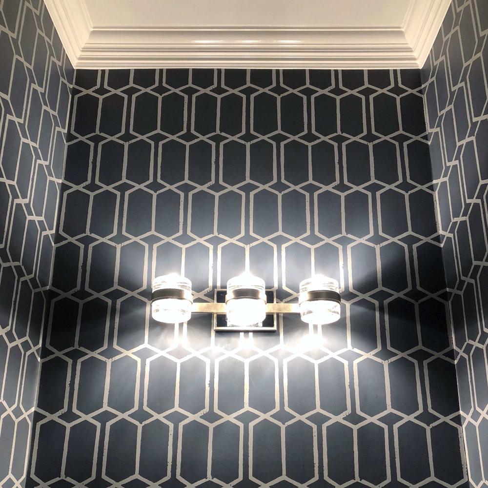 Powder room wallpaper in remodel #wallpaper #powderroom