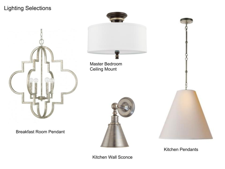 Lighting selections for house sale