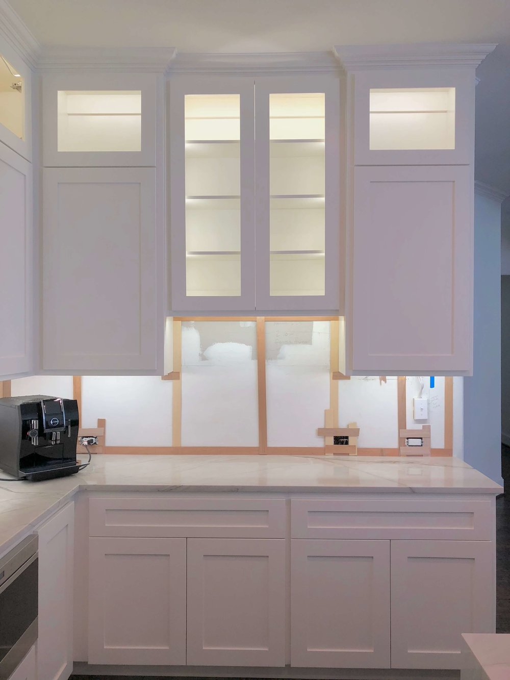 LED kitchen cabinet lighting in kitchen remodel