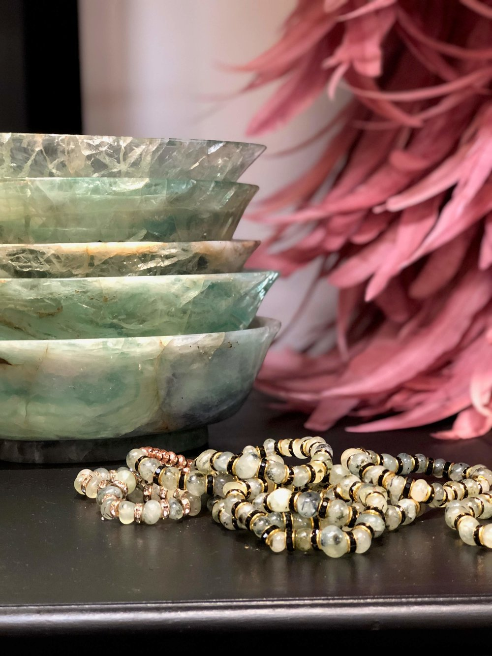 Beautiful jadeite bowls make a lovely statement in styling