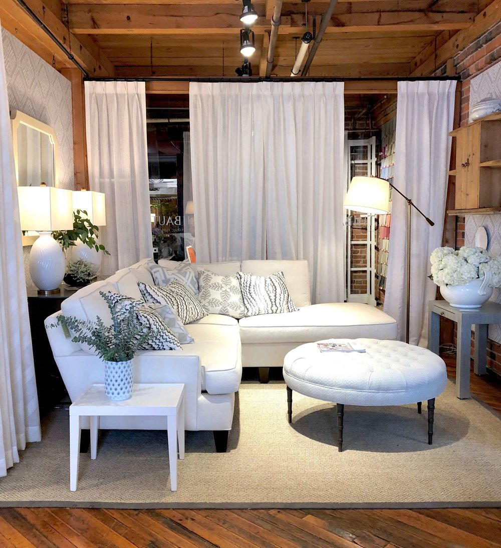White sofa in Crypton fabric trend