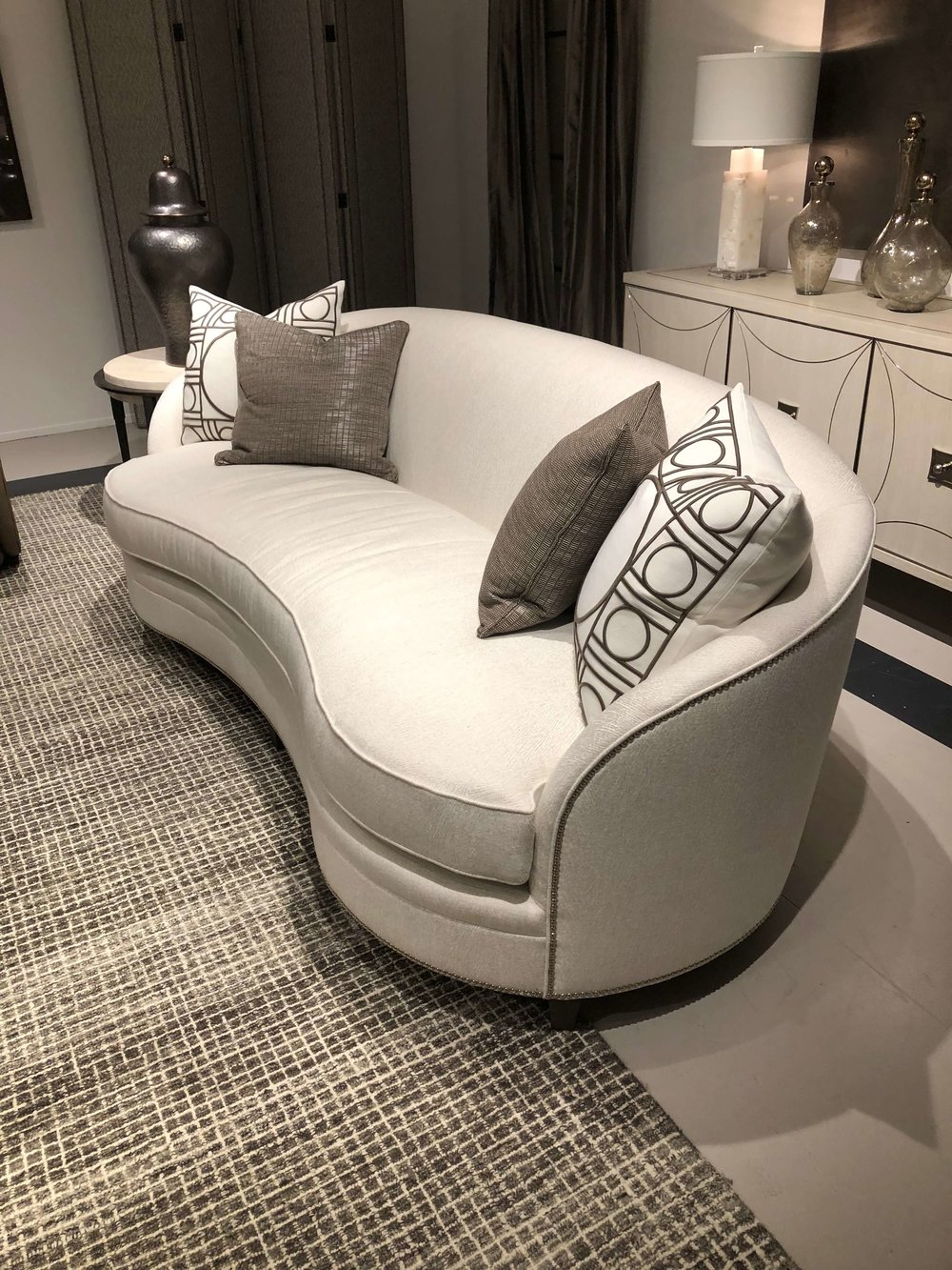 Pretty curvy sofa from Bernhardt at Highpoint Market