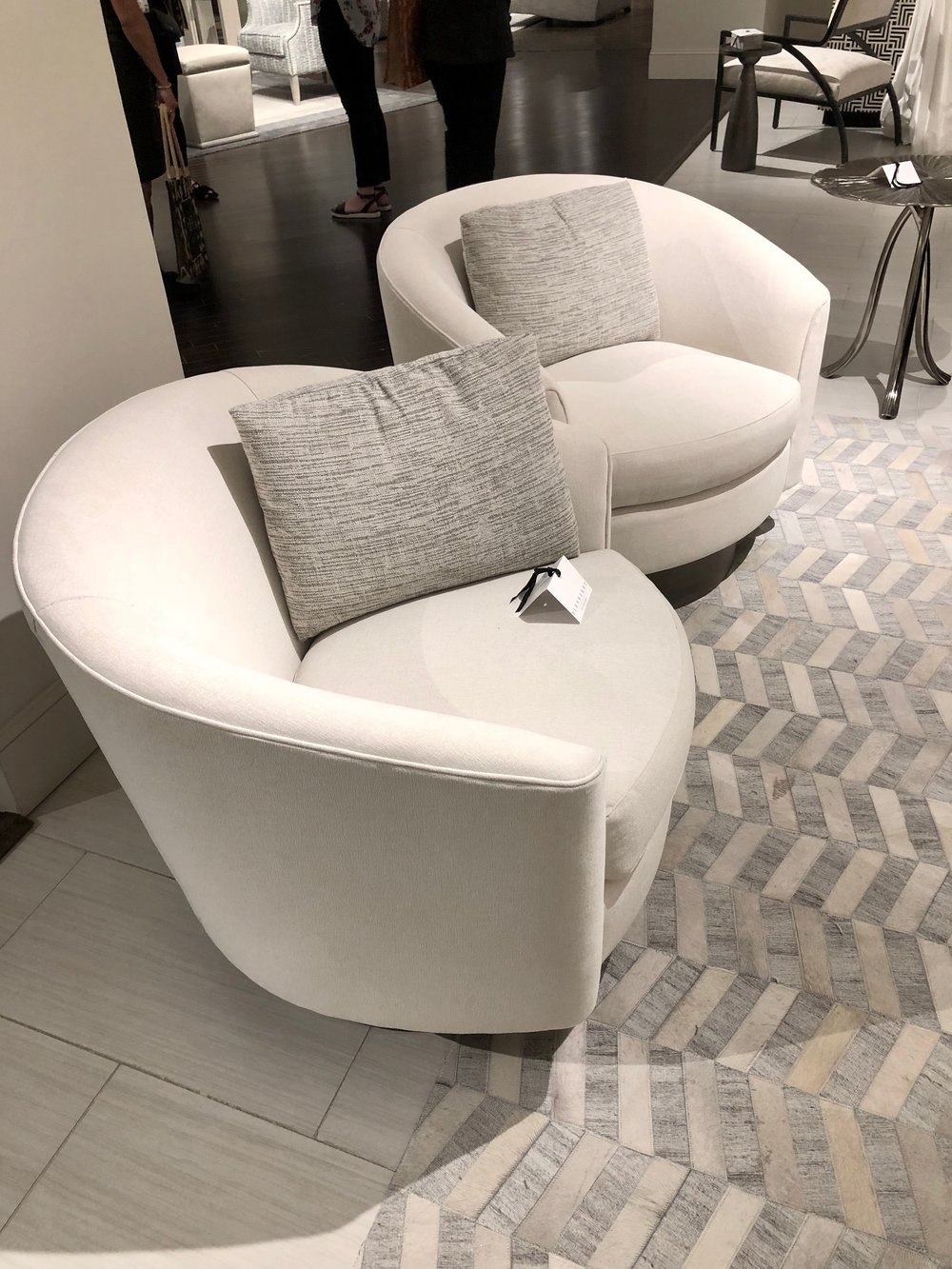 Swivel tub chairs from Bernhardt