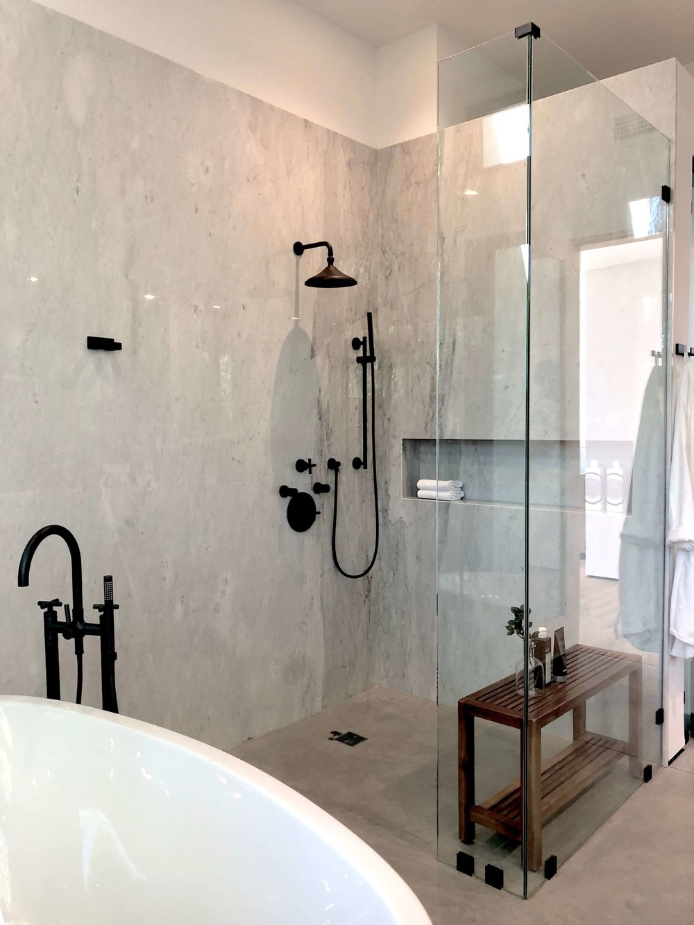 25 Beautiful Shower Niches For Your Beautiful Bath Products | Project by:  Vitus Matare   More about this bathroom and house here.