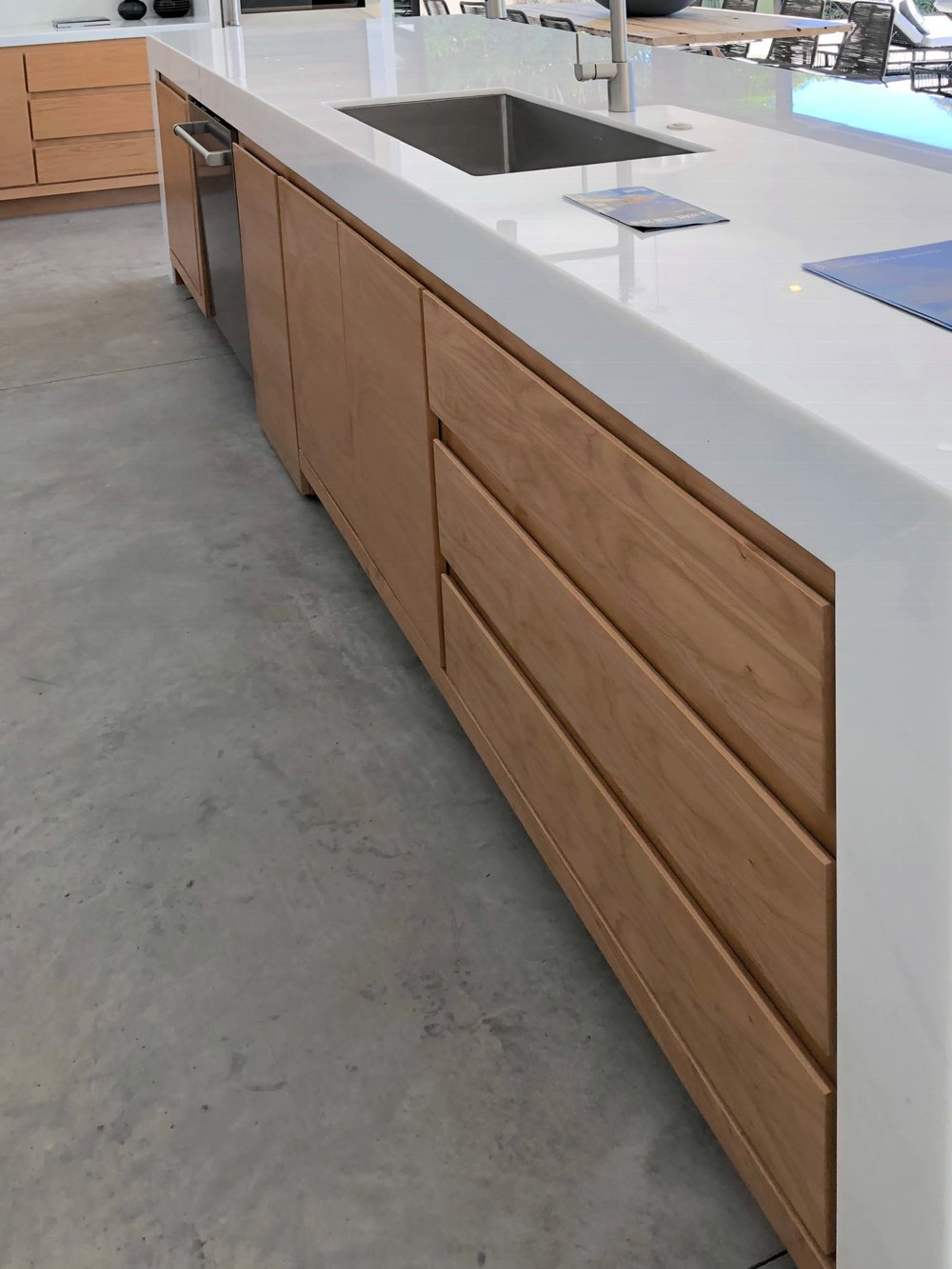 Thick kitchen countertops | Designer: Vitus Mitare, See more about this  contemporary home here.