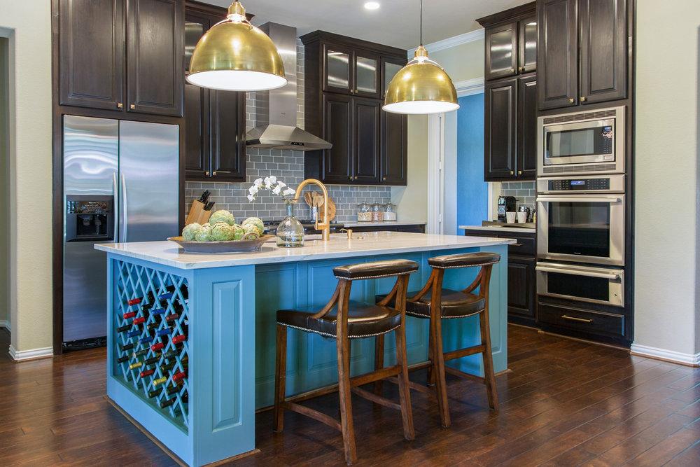 Two pendants over kitchen island | Designer: Carla Aston, Photographer: Tori Aston #pendants #pendantlighting #kitchenisland