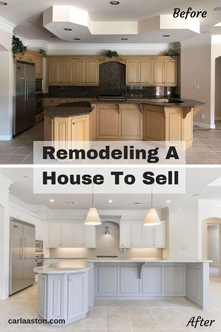 REMODELING A HOUSE TO SELL | #kitchenremodel #kitchenremodelonabudget #whitekitchen #homesellertips