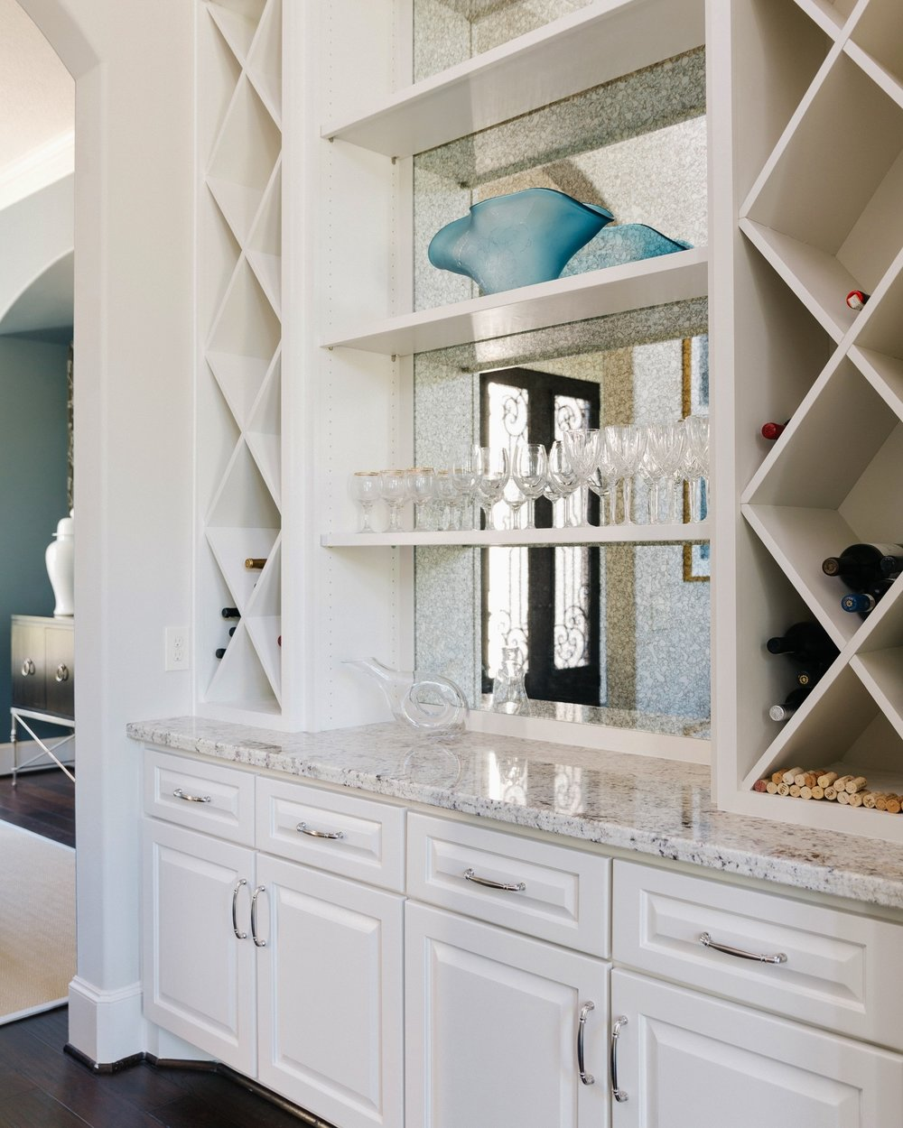 AFTER - Home wine bar transformation, Designer: Carla Aston, Contractor: Shaun Bain, Curb Appeals, Photographer: Colleen Scott | #remodeling #cabinetry #butlerspantry