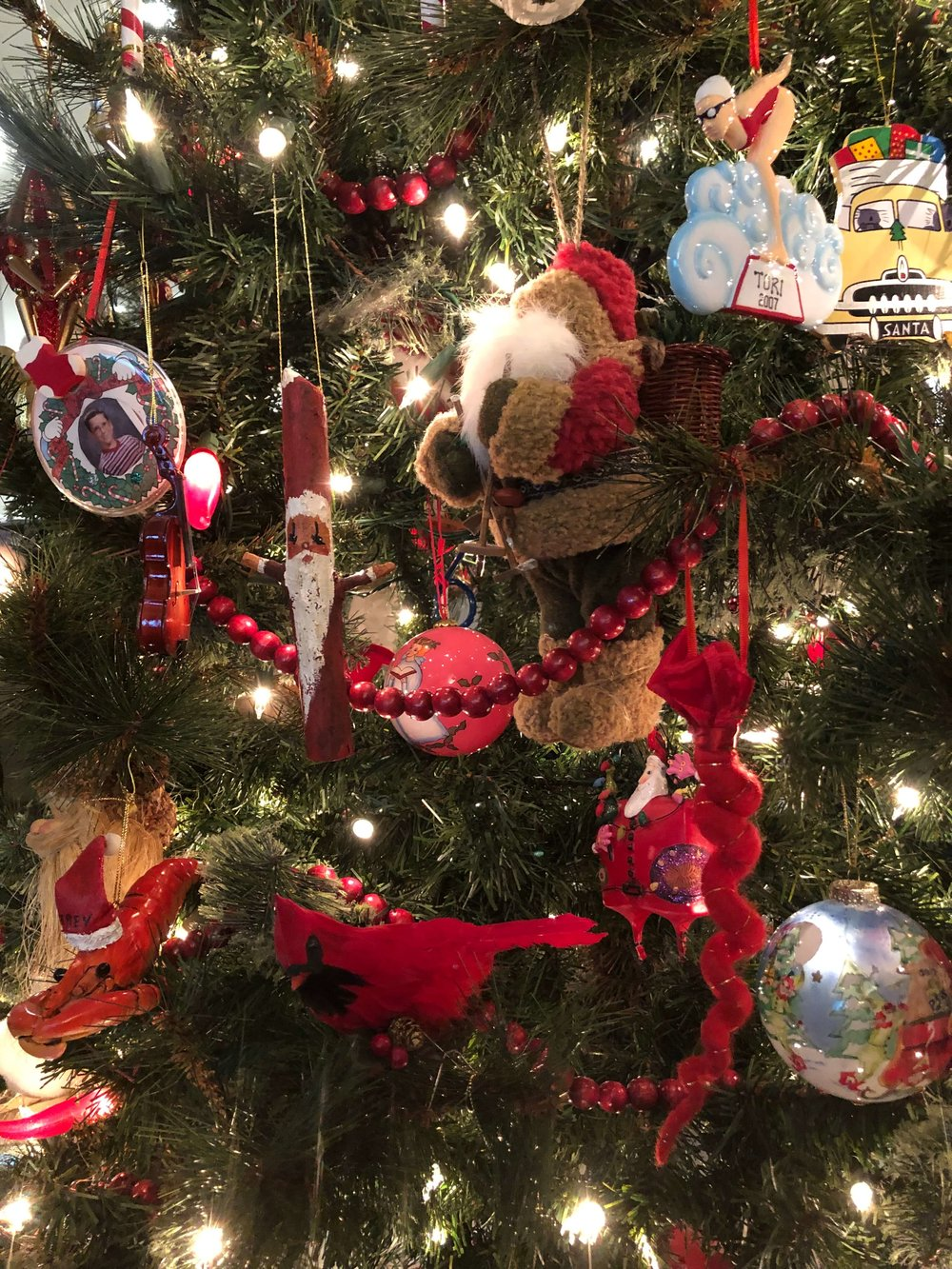 Christmas home tour - Santa ornaments collected over the years for my son