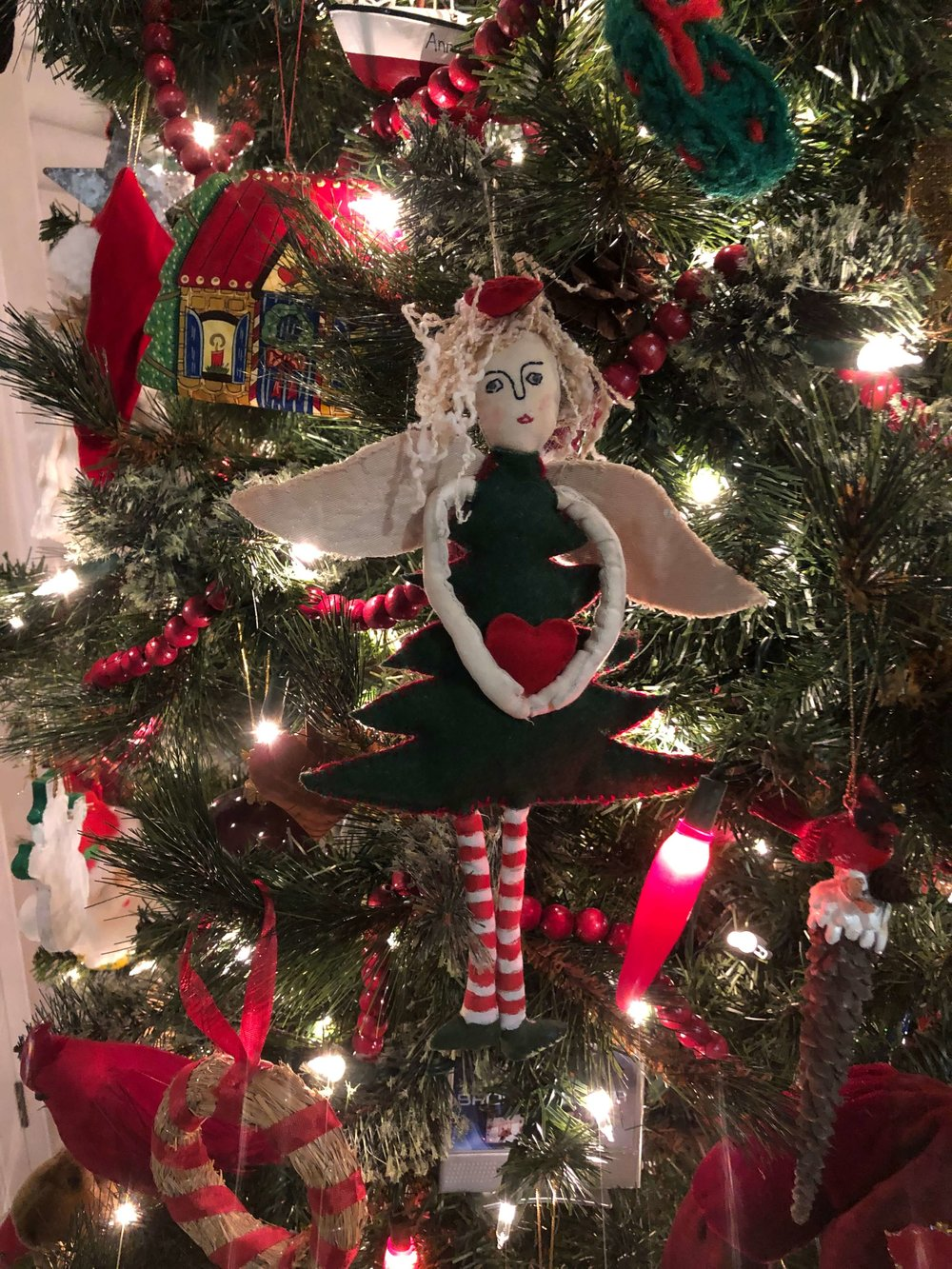 Christmas home tour - Angel ornaments collected over the years for my daughter
