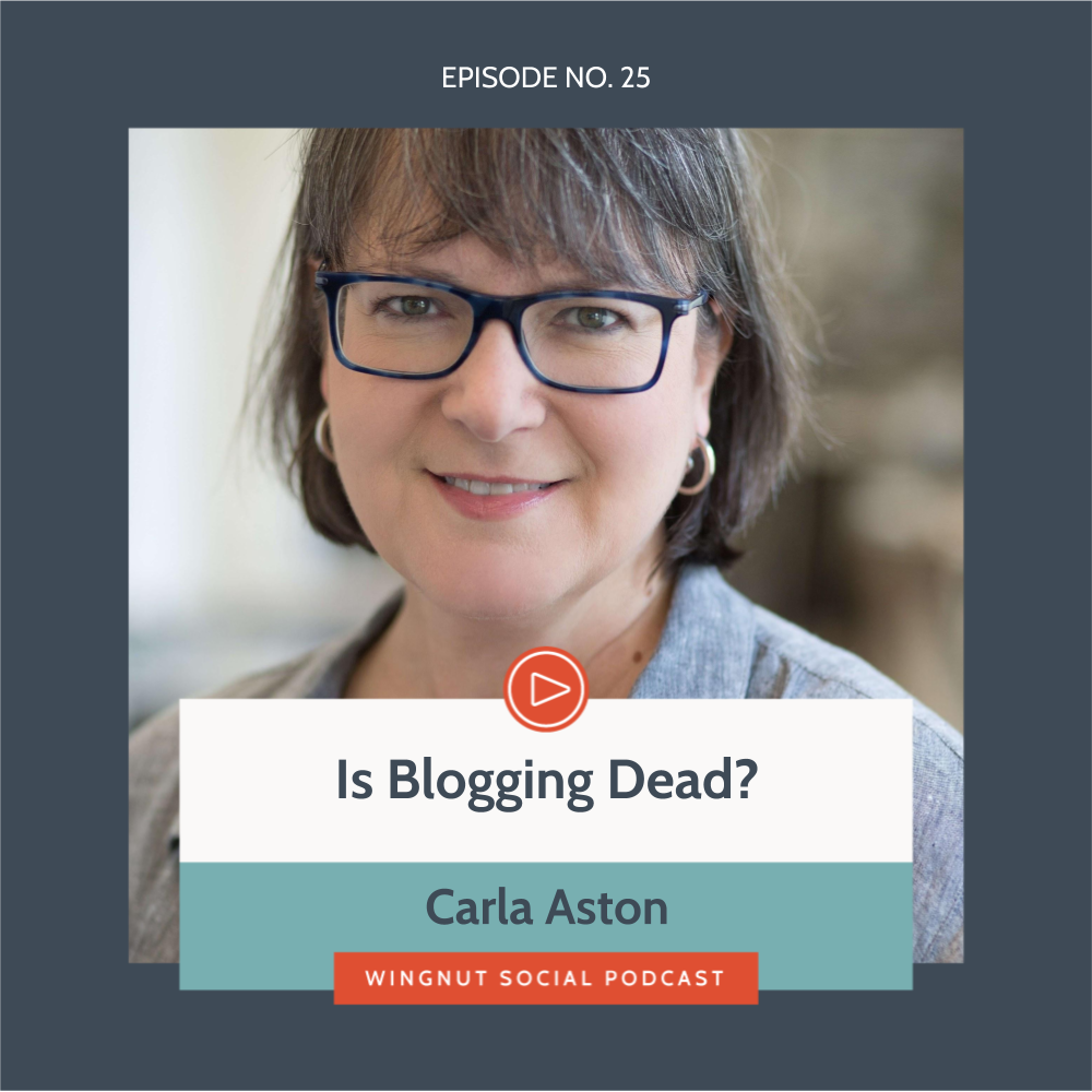 Wingnut Social Podcast Interview Carla Aston Blogging