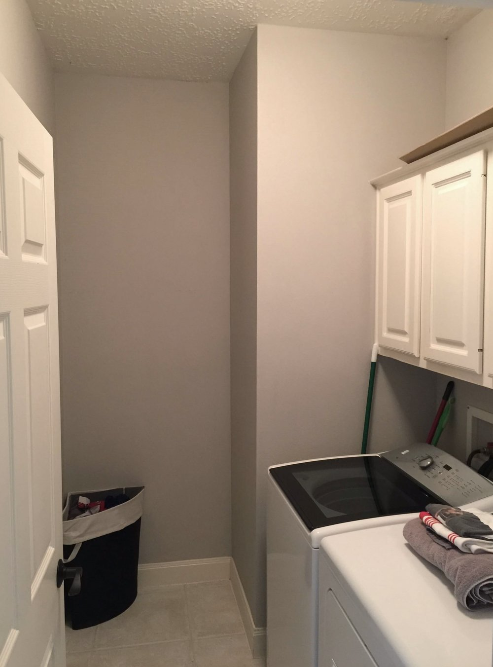 BEFORE - Laundry room remodel