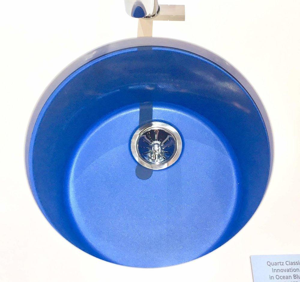Elkay blue undermount sink - KBIS, Kitchen and Bath Industry Show