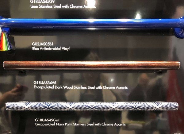 Accessible Design Products Found At KBIS 2019 - Colorful grab bars | Universal Design, Barrier Free Design, Aging-in-Place #universaldesign #aginginplace #grabbars