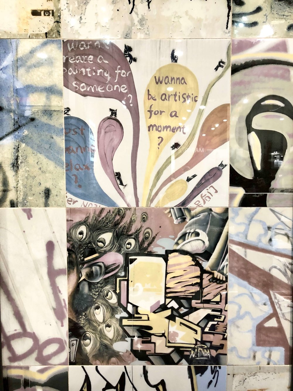 Graffiti tiles | KBIS 2019 Surfaces Trends