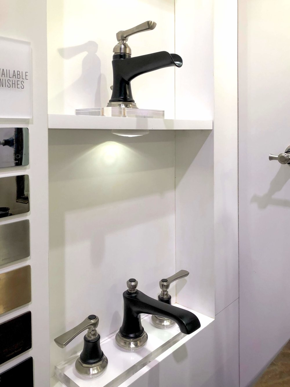 """Rook"" two tone black faucet with satin nickel accents from Brizo 