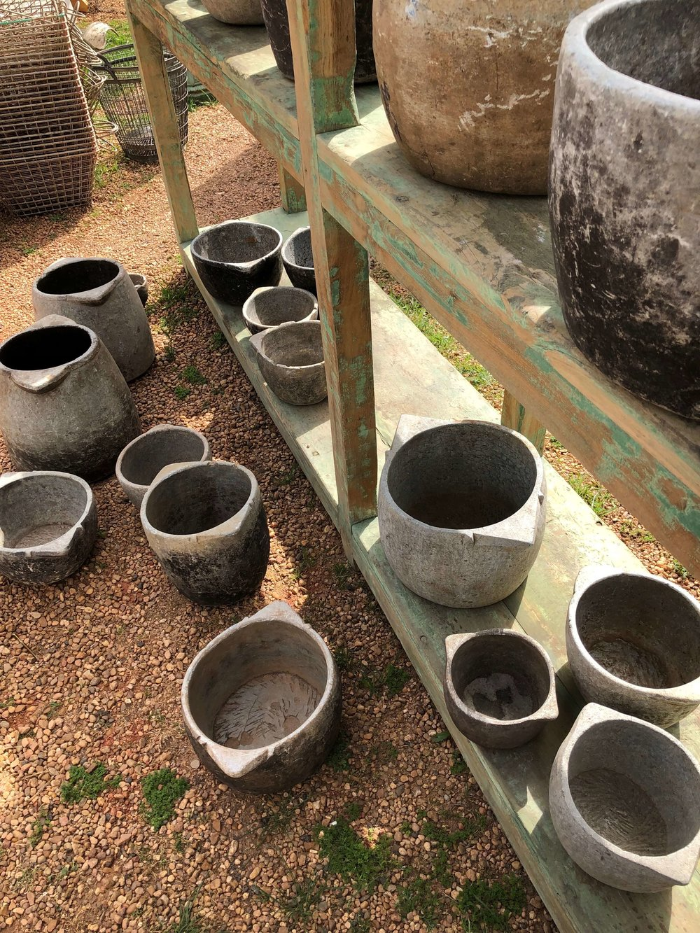 Soapstone containers | Northgate in Warrenton, Round Top Antiques Fair