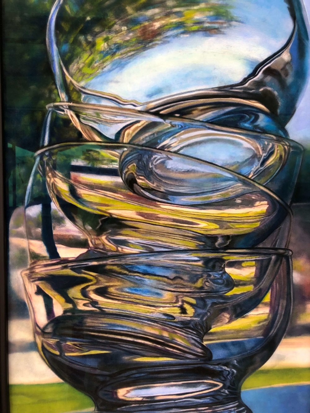 Artwork of artist, Barbara Mason, seen at The Woodlands Waterway Art Festival