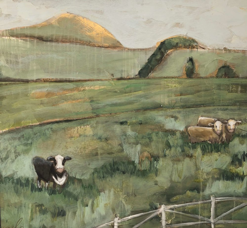 Pastoral painting by Melanie Blackerby, seen at The Woodlands Waterway Art Festival