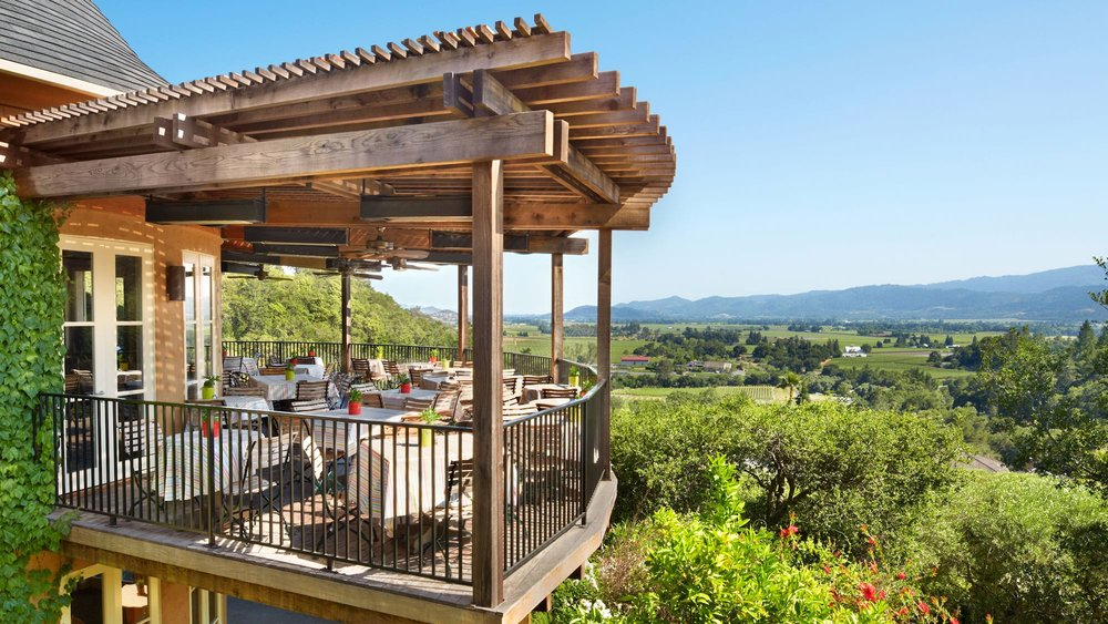 The views are stunning at Auberge du Soleil in Napa Valley. So looking forward to this culinary experience! #napa #cuisine