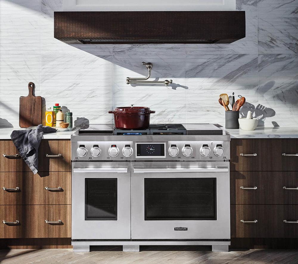 """Signature Kitchen Suite 48"""" Range with Sous Vide cooking #appliances #sousvide"""