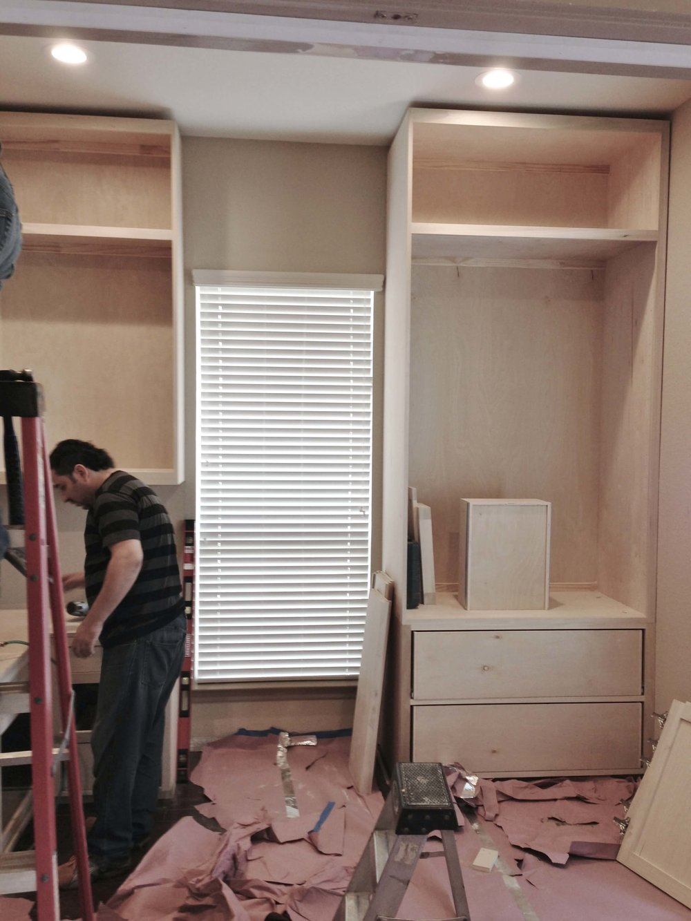 BEFORE, Remodel in Progress - Window in home office