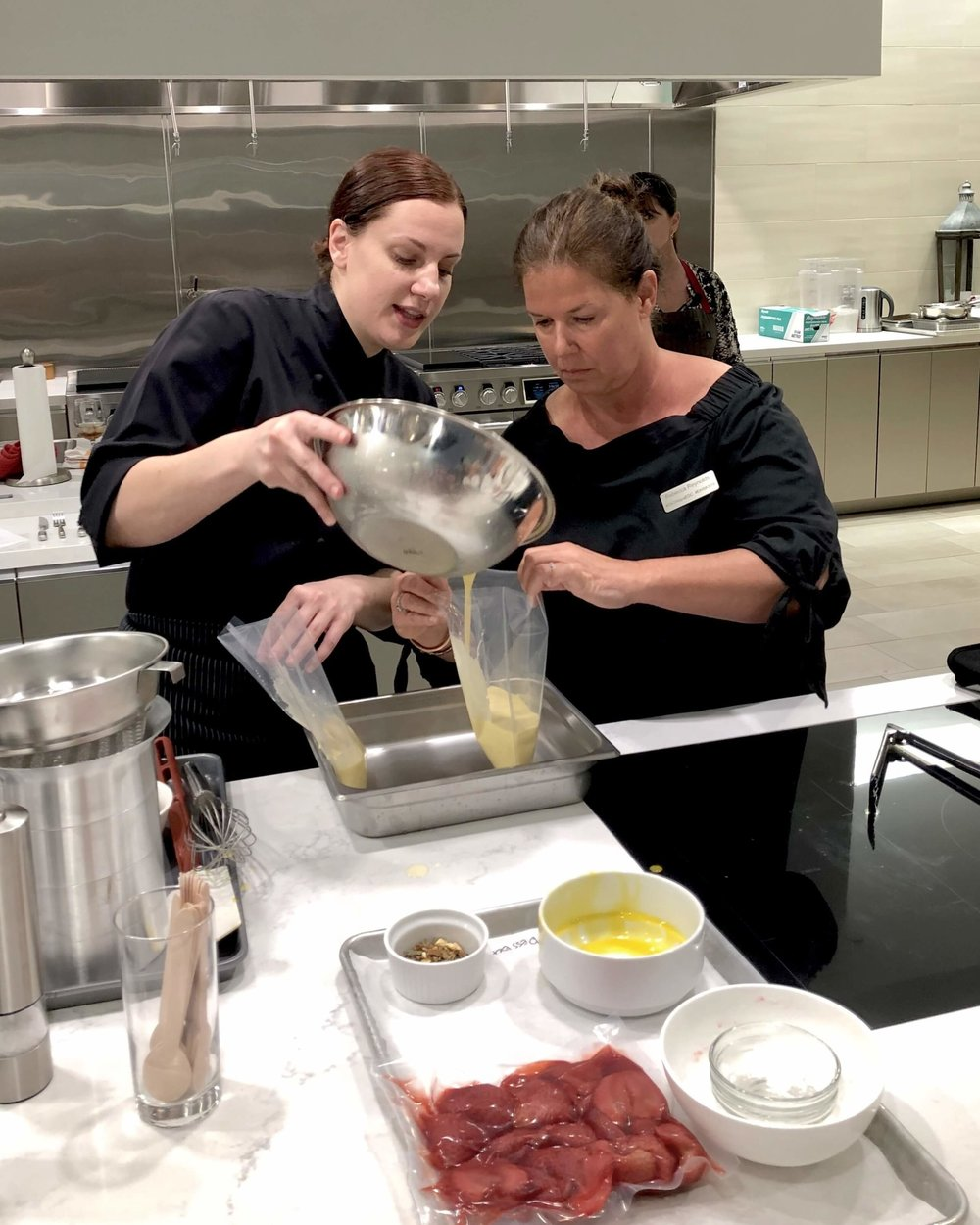 Cooking with a chef at SKS Appliances Experience and Design Center, Napa