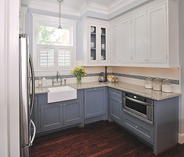 Kitchen with semi gloss trim design -ed by interior designer Carla Aston