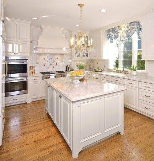 Kitchen with high gloss trim design -ed by interior designer Carla Aston