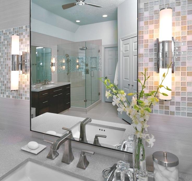 Bathroom sconce sink mirror backsplash lighting decor cabinet design & Bathroom Sconces: Where Should They Go? u2014 DESIGNED