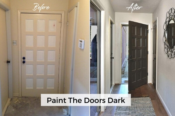 Paint Or Stain Your Doors Dark To Add Some Dramatic Punctuation In Your Home Designed