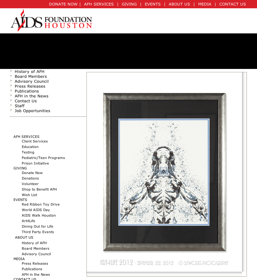 A photo of my piece in the auction catalog.