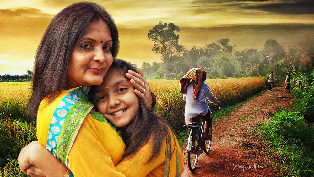 Mama and Daughter on Road to Market-Widescreen.jpg