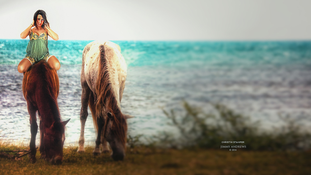 Christin On Horse In Puerto Rico