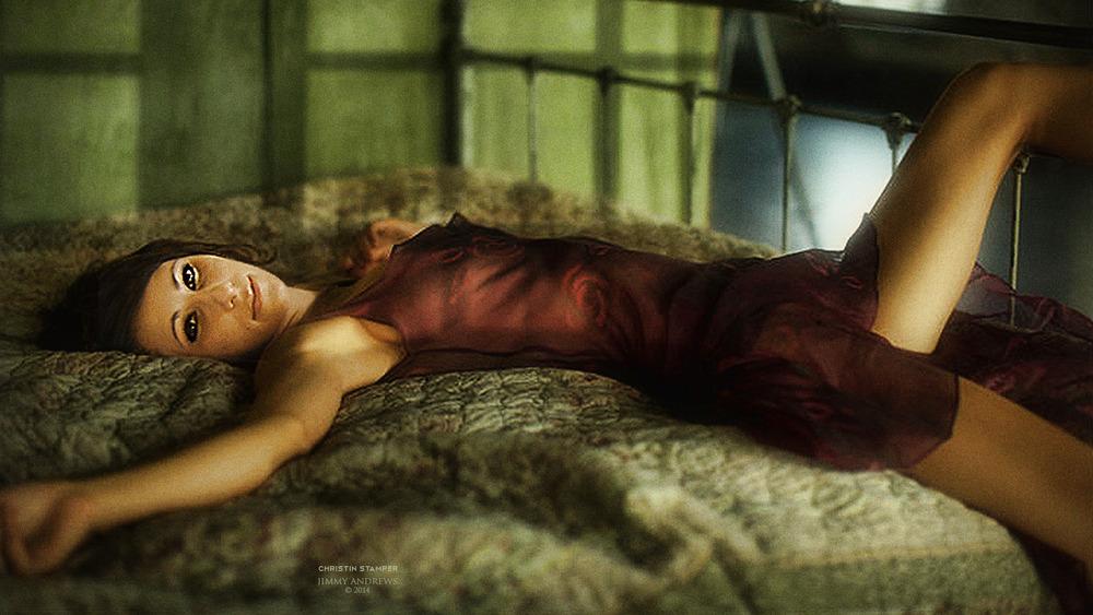 Christin Stamper On Bed