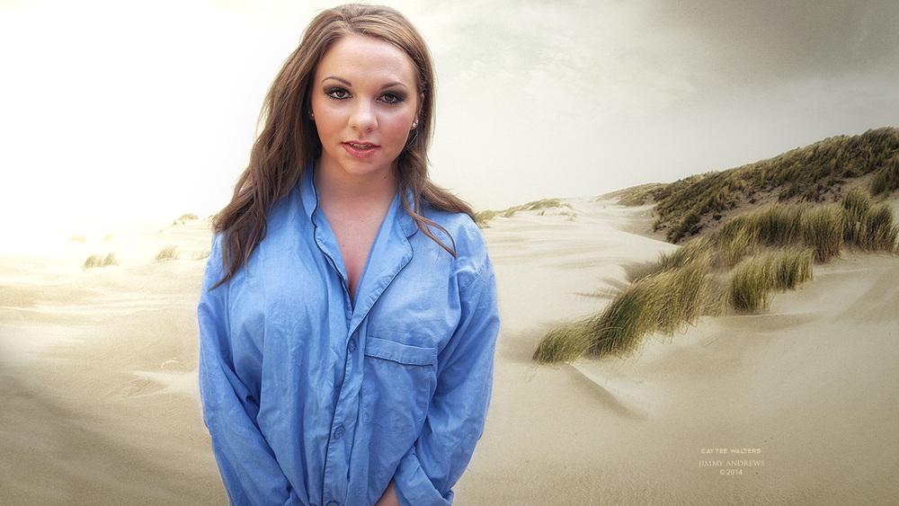 Caytee Walters On Morning Beach In PJ's