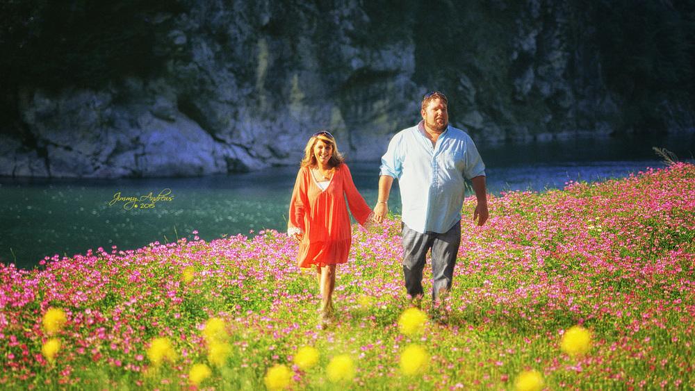 Paula and Reed Along River Bank