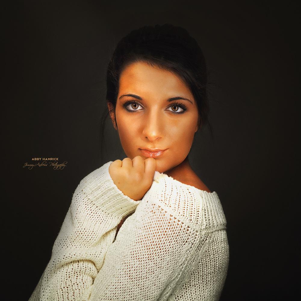 Abby Hamrick Portrait In White Sweater
