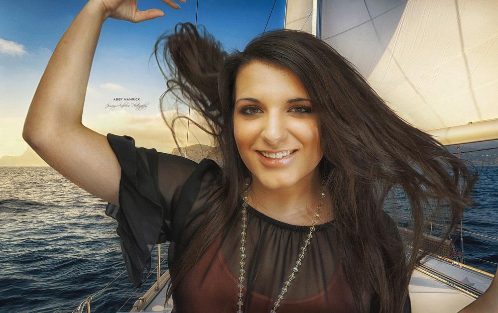 Abby Hamrick On Sail Boat