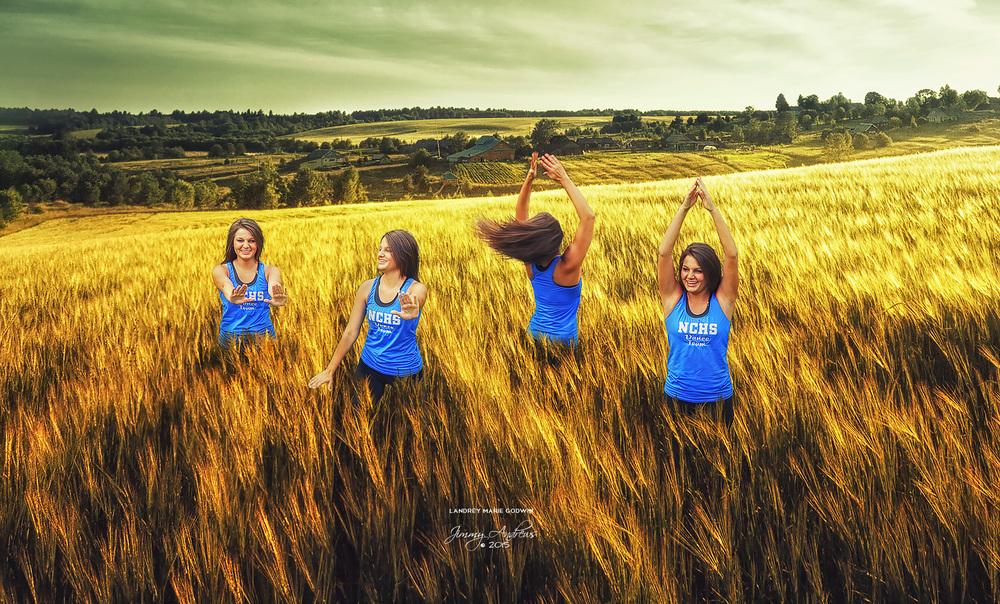 Landrey Godwin Dancing In Wheat Field