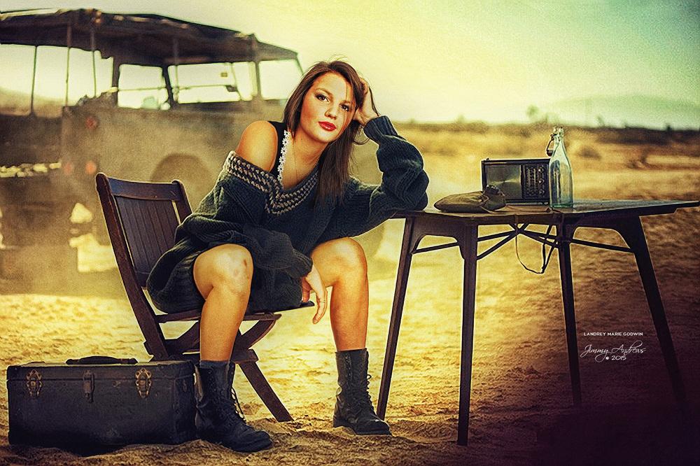 Landrey Godwin In Desert Boot Camp